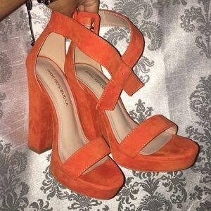 Shoe Republicla Orange Heels